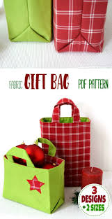 christmas gift bag fabric gift bag pattern for christmas fabric gift bags