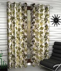Curtains Floral Home Sizzler Set Of 2 Pcs Door Curtains Floral Green Buy Home