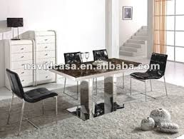 a8023 italian marble top stainless steel dining table room