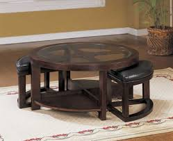 furniture coffee table with stools underneath large ottoman