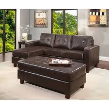 Claire Leather Reversible Sectional And Ottoman Assorted Colors