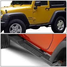 red jeep 2 door 16 jeep wrangler jk 2 door pair of oe style side step nerf bar