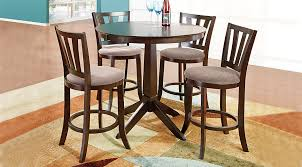 hallie espresso 3 pc counter height dining room dining room sets