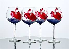 personalized painted wine glasses custom handpainted wholesale