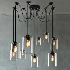Industrial Glass Pendant Lights Fashion Style Pendant Lights Multi Light Pendants 8
