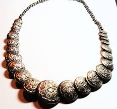 necklace vintage jewelry images Boho vintage necklace floral patterned silver necklace vintage jpg