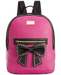 bags with bows betsey johnson macy s exclusive bow backpack handbags