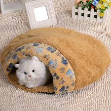 Kitten Bed Pet Cat Kitten Bed House Warm Sleeping Bag Cave Nest Soft Fleece