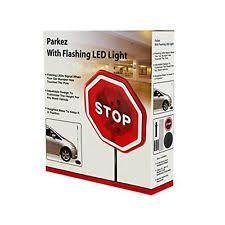 stop sign with led lights parkez flashing red led light stop sign for parking garage ebay
