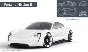 porsche mission e sketch drawings for 3d modeling premium and free vector files images