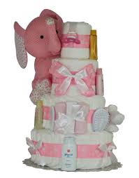 diper cake pink elephant cake baby girl cakes