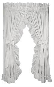 stephanie solid color country ruffled priscilla window curtains