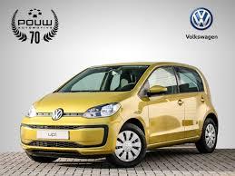 volkswagen up yellow volkswagen up 1 0 60pk move up executive pakket 2017 benzine