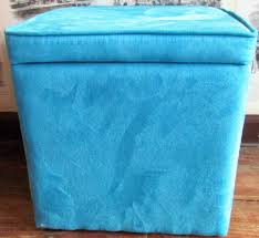 Aqua Storage Ottoman Aqua Blue Storage Ottoman Stash Leather Cube Green Outside