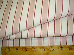 Home Decor Designer Fabric by Laura Ashley Cricket Stripe Rose Home Discount Designer Fabric