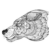 wolf face coloring page 397 wolf face tribal cliparts stock vector and royalty free wolf