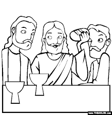 Easter Online Coloring Pages Page 1 Last Supper Coloring Page