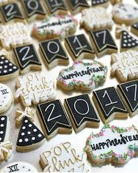 New Year Decorated Cookies by Cute New Year U0027s Cookies Decorated Sugar Cookies New Year U0027s
