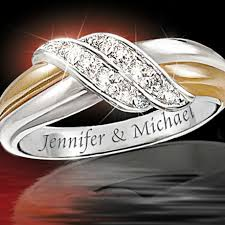 Ring With Name Engraved Romantic Jewelry And Bridal Jewelry