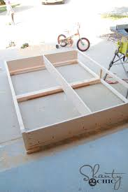 How To Build A Queen Size Platform Bed With Storage by Diy Full Or Queen Size Storage Bed Shanty 2 Chic