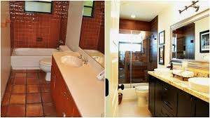 bathroom remodel pictures before and after for small designs