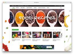 free homepage for website design 20 beautiful wordpress food blog themes 2017 colorlib