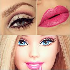 barbie make up for my costume i don t know exactly what eyeshadow i m using yet