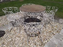 Bistro Patio Chairs by Lovely Vintage French Table And 4 Chairs Set Wrought Iron Hair Pin