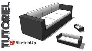 comment faire un canapé en sketchup tutoriel dessin canapé 3 places
