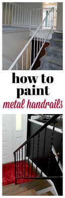 have one of those 70 s era metal handrails at your house learn how to paint