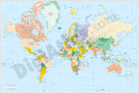 Political World Map Vectorized Maps Digital Maps Increase Search Engine Traffic