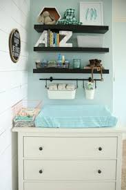 Ikea Folding Changing Table Diy Supply Shelf Diaper Changing Station Got Shelf And Pails