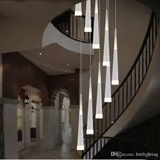 led drop lights spiral chandelier indoor staircase