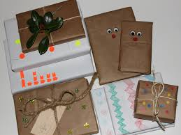 diy 6 ways to make your own gift wrap inhabitots
