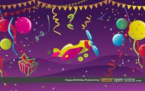 happy birthday postcards happy birthday postcard vector free