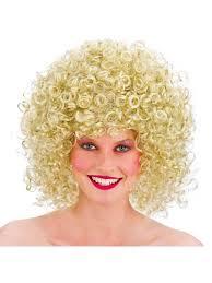 70 u0027s hippy 80 u0027s blonde boogie disco wig fancy dress afro perm