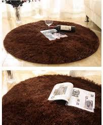 Plush Floor Rugs 160cm Large Long Plush Shaggy Soft Round Carpet Non Slip Floor Rug