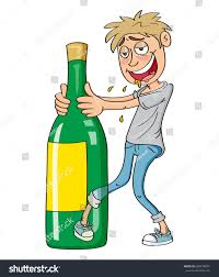 alcohol vector drunk guy drinking alcohol vector illustration stock vector