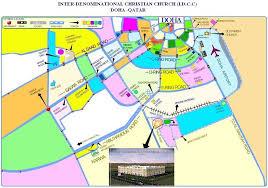 doha qatar map tamil church in doha qatar