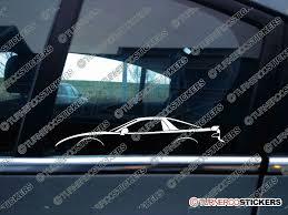 mitsubishi 1990 2x jdm car silhouette sticker mitsubishi 3000 gt gto vr4 1990 1997