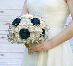 blue wedding bouquets rustic navy blue wedding bouquet