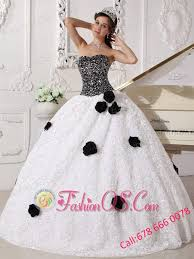 black and white quinceanera dresses white and black quinceanera dress strapless special fabric sequins