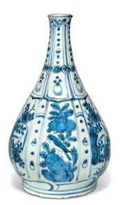 Blue Bottle Vase A Blue And White U0027kraak Porselein U0027 Bottle Vase Wanli Period 1573