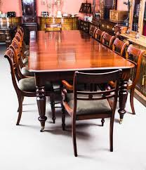 Antique William Iv Mahogany Extending Dining Table And 12 Chairs At