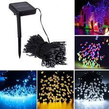 solar powered led fairy lights solar powered 100 200 led string fairy lights garden outdoor xmas