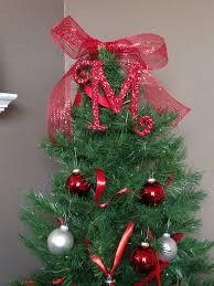 monogram tree topper decorative 8 monogram christmas tree topper letter