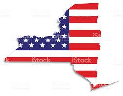 New Yorks Flag Usa Karte Flagge New York Vektor Illustration 523036729 Istock