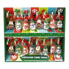 16 peppermint candy canes with jelly figures festive sweets