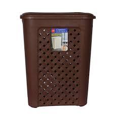 cello classic plastic laundry basket 30 litres brown amazon in