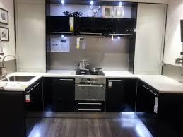 ultra modern kitchens black gloss
